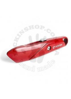 Нож с выдвижным трапециевидным лезвием, металлический корпус