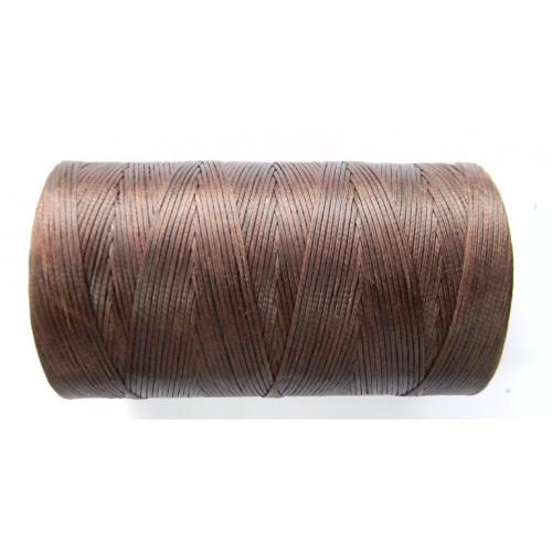 Нитка вощеная коричнева 1 мм.