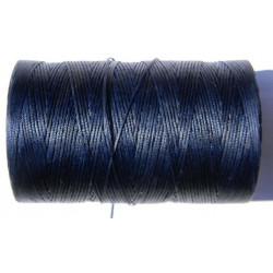 Нить вощеная тёмно синяя 1 мм.