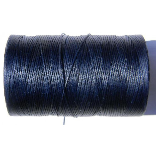 Нитка вощеная темно синя 1 мм.