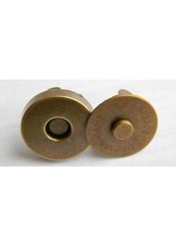 Застёжка магнит, антик (диам. 18мм)