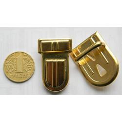 Застёжка портфельная, средняя овал (золото)