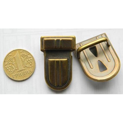 Застёжка портфельная, средняя овал (антик)