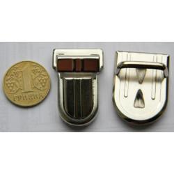 Застёжка портфельная, средняя овал (никель)