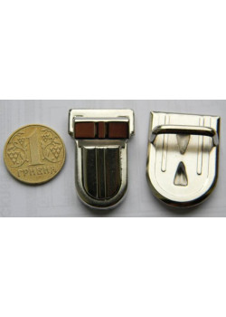 Застібка портфельна, середня овал (нікель)