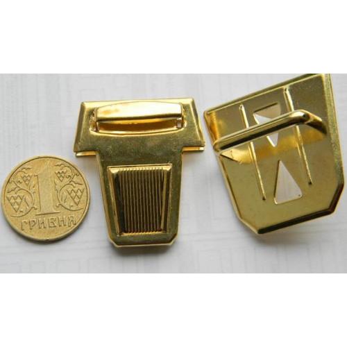 Застёжка портфельная, большая (золото)