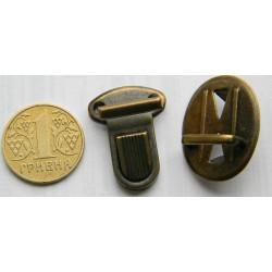 Застёжка портфельная, малая, овал (антик)