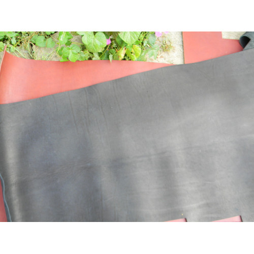 Кожа ременная черная 3.8-4мм (чепрак)