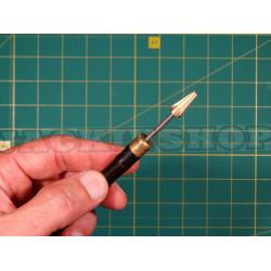Инструмент для покраски торца кожи. Сандал