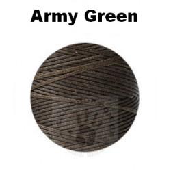 """Вощеная нить 0,8мм, """"Army-green"""", бобина 100 м"""