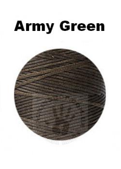 "Вощеная нитка 0,8мм, ""Army-green"", бобіна 100 м"