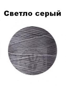 Вощеная нитка 0,8мм, світло-сірий, бобіна 100 м