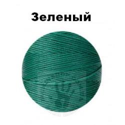 Вощеная нить 0,8мм, зелёный, бобина 100 м