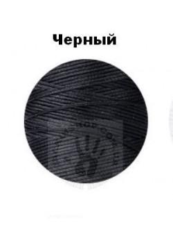 Вощеная нитка чорна, 0,8мм, бобіна 100 м