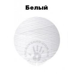 Вощеная нить 0,8мм, белая, бобина 100 м