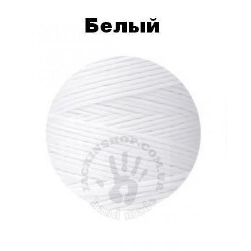 Вощеная нитка 0,8мм, біла, бобіна 100 м