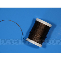 Вощеная, круглая нить 0,6 мм, тёмно коричневая бобина 75 м
