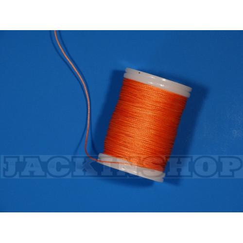 Вощеная, круглая нить 0,6 мм, оранжевая бобина 75 м