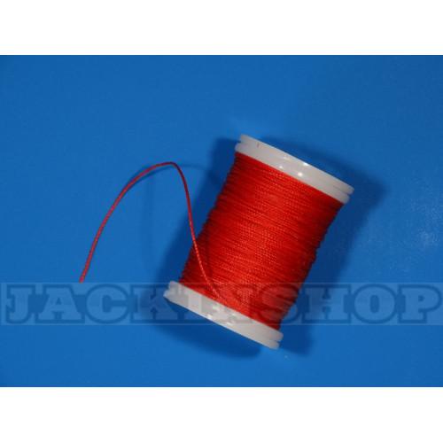 """Вощеная, кругла нитка 0,6 мм, червона """"Ферарі"""" бобіна 75 м"""