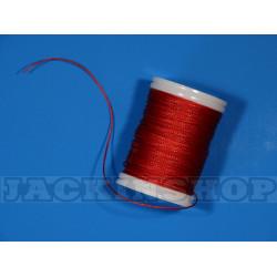 Вощеная, круглая нить 0,6 мм, тёмно-красная бобина 75 м