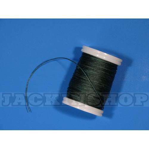 Вощеная, кругла нитка 0,6 мм, темно-зелена бобіна 75 м