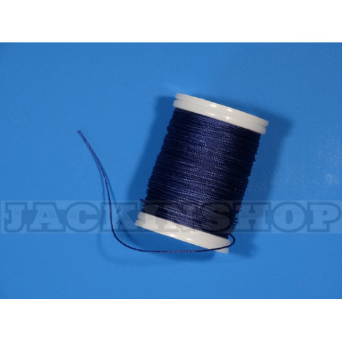 Вощеная, круглая нить 0,6 мм, синяя бобина 75 м