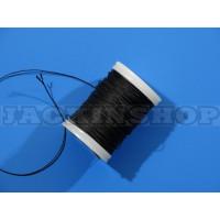 Вощеная, круглая нить 0,6 мм, черная бобина 75 м