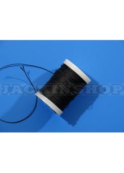 Вощеная, кругла нитка 0,6 мм, чорна бобіна 75 м