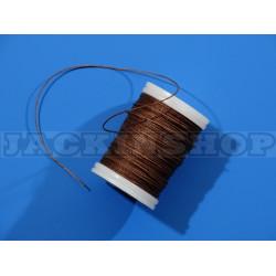 Вощеная, круглая нить 0,6 мм, коричневая бобина 75 м