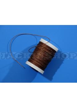 Вощеная, кругла нитка 0,6 мм, коричнева бобіна 75 м