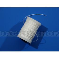 Вощеная, круглая нить 0,6 мм, белая бобина 75 м
