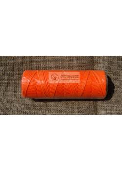 Вощеная нить оранжевая бобина 100 м