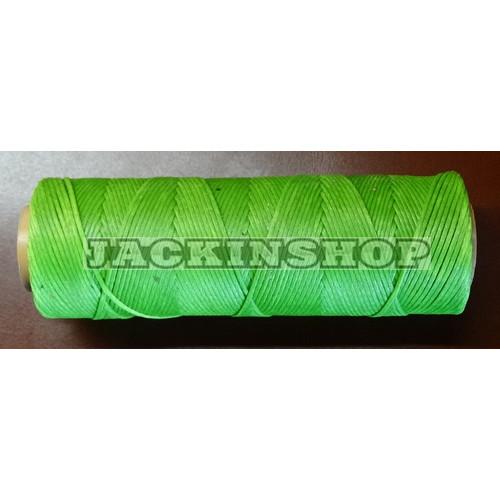 Вощеная нить зелёная бобина 100м