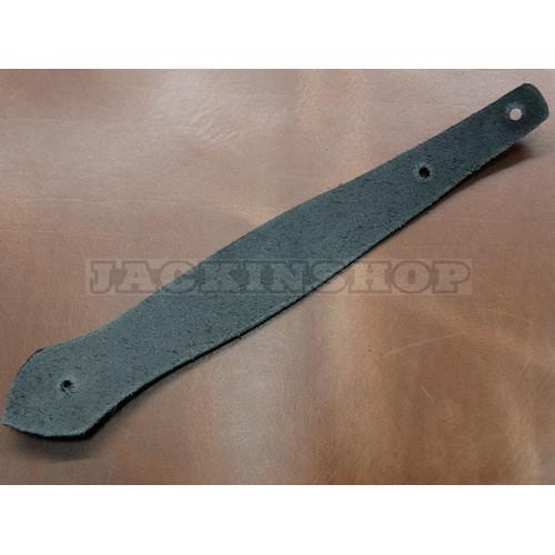 Заготовка держатель ключей из черной кожи 1,6-1,8 мм