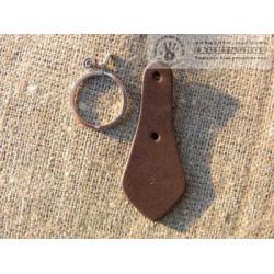 Заготовка для брелока, т.коричневый
