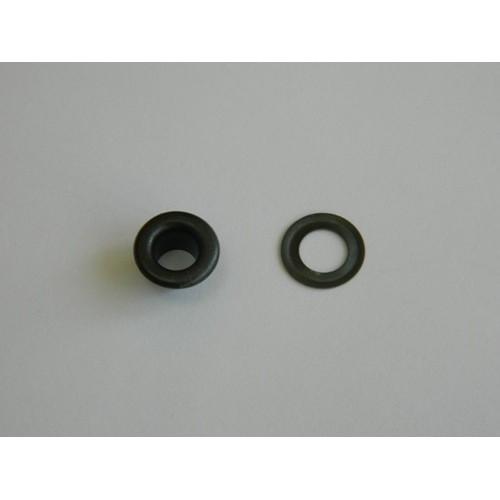 Блочка Люверс 4мм (50шт) черный