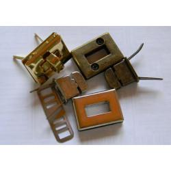 Застібка поворотна (прямокутна, нікель) №2