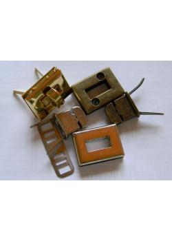 Застёжка поворотная (прямоугольная, никель) №2