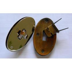 Застібка поворотна (овал, антик) №3