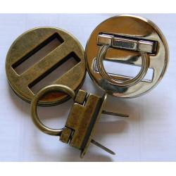 Застёжка поворотная (круг, никель)