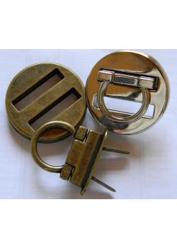 Застібка поворотна (коло, нікель)