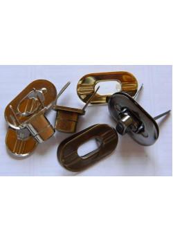 Застёжка поворотная (овал, никель) №1