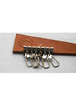 Карабины для ключницы (6). Никель