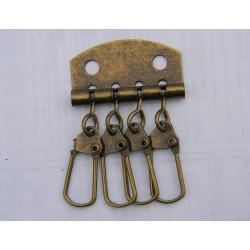 Карабіни для ключниці (4). антик