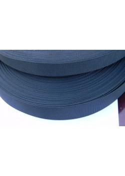 Лента репсовая 20мм, черная (1м)