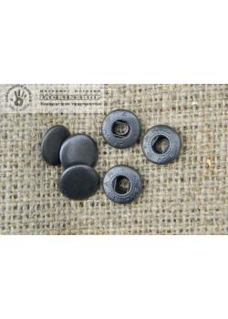"""Кнопка """"альфа"""" 12,5 мм 25шт чорний"""