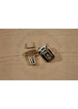 Застёжка портфельная, малая, прямоугольная (никель)