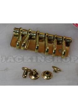 Карабины для ключницы (6). Латунь