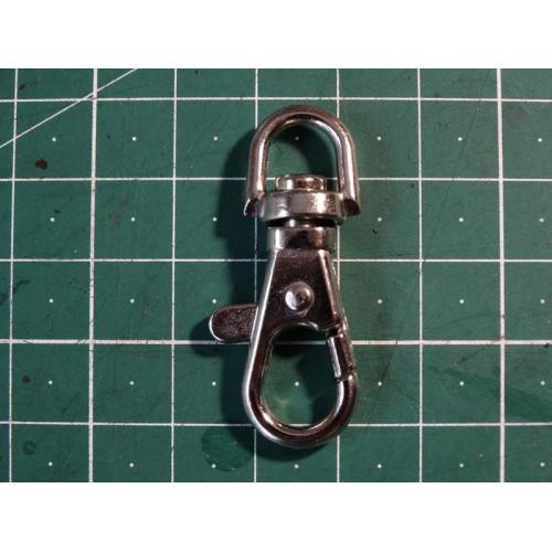 Карабин ключный 8 мм никель