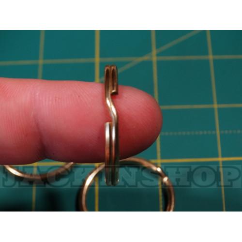 Кольцо ключное из латуни 30мм ( круглая проволока )
